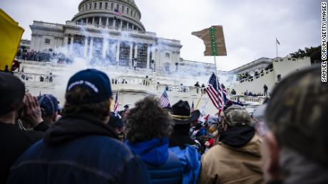 Pro-Trump supporters storm the U.S. Capitol following a rally with President Donald Trump on January 6, 2021 a Washington, DC.