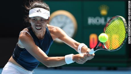 Hsieh Su-Wei reached the quarterfinals of the Australian Open.