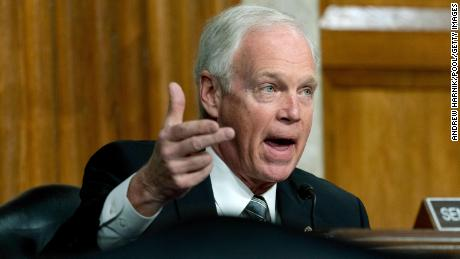 Ron Johnson just dropped a ridiculous conspiracy theory at the Senate Capitol attack hearing