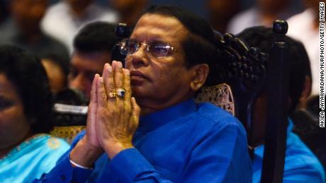 Sri Lanka's former President Maithripala Sirisena in Colombo, Sri Lanka, on September 3, 2019.