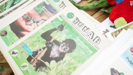 Students can also share what they learn with others in the community through HUNAB's newspaper.