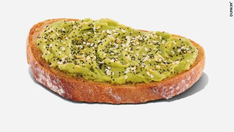 Dunkin' is now selling $2.99 avocado toast.