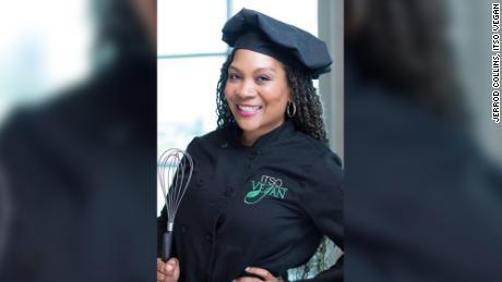 Amiya Cleveland's restaurant ITSO Vegan serves plant-based food.