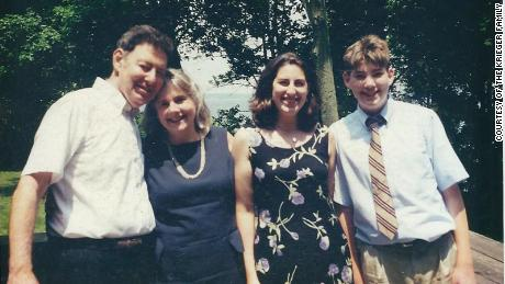 Neil, Susan, Hilary and Jonathan Krieger at a family wedding in Rhode Island.