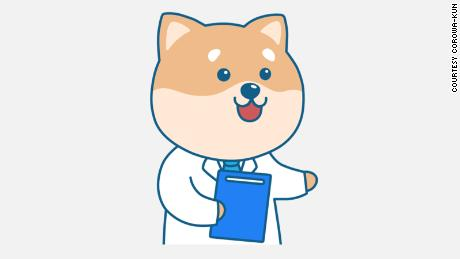 A cartoon dog is  spreading awareness about Covid-19 vaccines in Japan.
