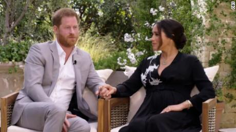 Harry and Meghan, the Sussexes, in an interview with Oprah Winfrey, scheduled to air on Sunday.