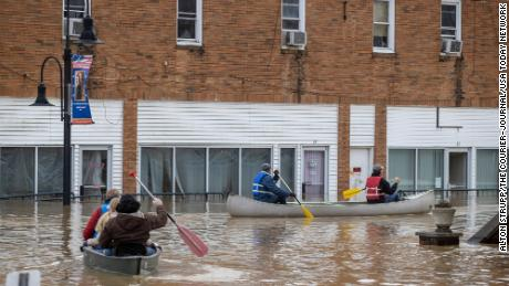 Flooding in downtown Beattyville