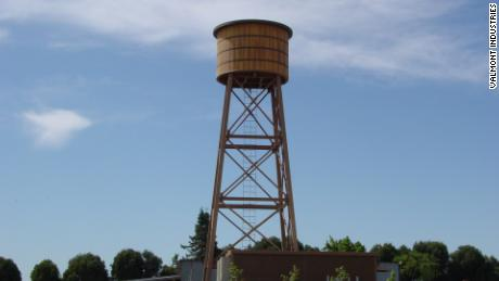 A faux-water tank conceals 4G equipment in Schellville, California. It can be modified to be 5G capable.