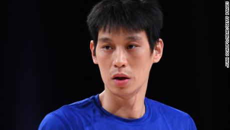 Jeremy Lin playing for the Santa Cruz Warriors on February 18, 2021.