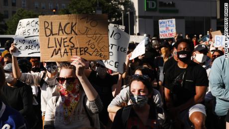 George Floyd's death inspired demonstrations in Brooklyn, New York, on June 1.