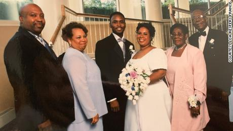 The Respers and Lyle families celebrated Lisa's wedding to Terry France in September 2001.