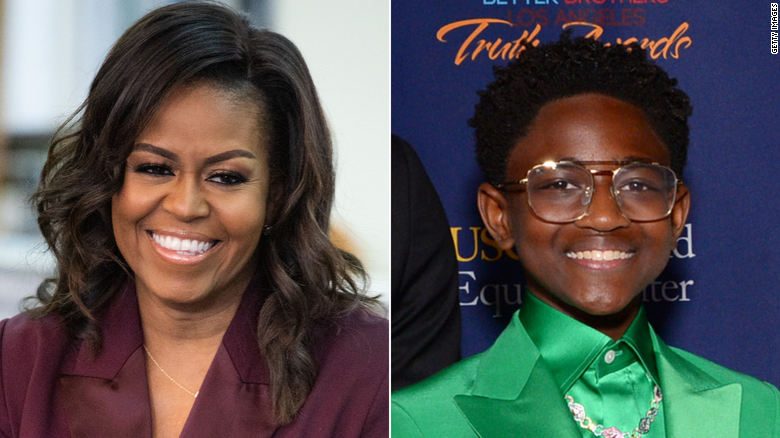 Michelle Obama has a moving conversation with Dwyane Wade's daughter, 扎耶