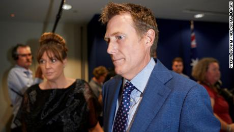 Australia's Attorney General Christian Porter faced the press on March 3.