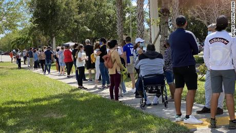 About 50 people were vaccinated at a Florida site despite being ineligible