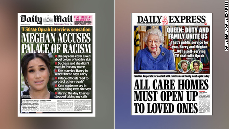 'Self-serving': UK media tabloids hit back at Meghan and Harry's interview