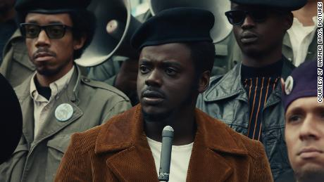"Daniel Kaluuya as Chairman Fred Hampton in ""Judas and the Black Messiah."" (Courtesy: Warner Bros. Pictures)"