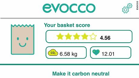 Evocco tracks the carbon footprint of grocery shopping.