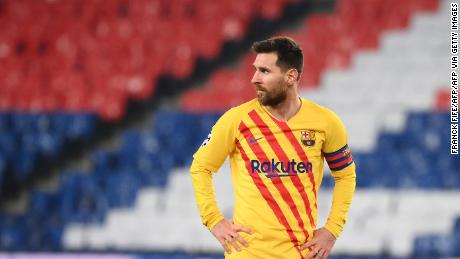 Lionel Messi scored and missed a penalty as Barcelona crashed out.
