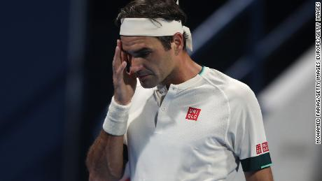 Roger Federer was beaten by Nikoloz Basilashvili at the Qatar Open.
