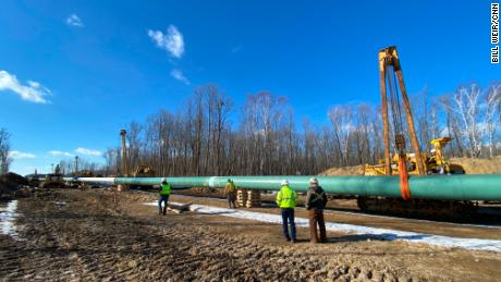 Much of the new pipeline is already buried and in place underground, according to Enbridge.