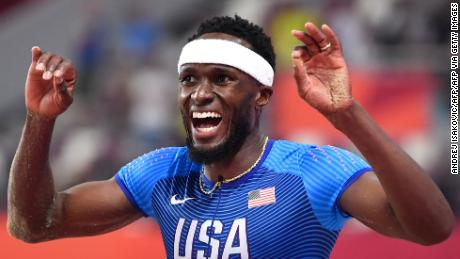 USA's Will Claye reacts as he competes in the Men's Triple Jump final at the 2019 IAAF World Athletics Championships at the Khalifa International Stadium in Doha on September 29, 2019. (Photo by ANDREJ ISAKOVIC / AFP)        (Photo credit should read ANDREJ ISAKOVIC/AFP via Getty Images)