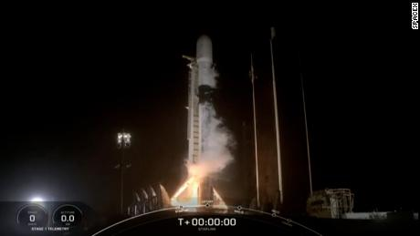 SpaceX launches Falcon 9 rocket carrying Starlink satellites. Their goal is to blanket the planet in high-speed broadband