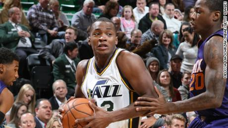 Elijah Millsap of the Utah Jazz handles the ball against the Phoenix Suns on December 21, 2015.