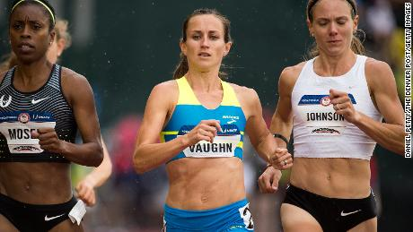 Vaughn races at the 2016 Olympic trials.