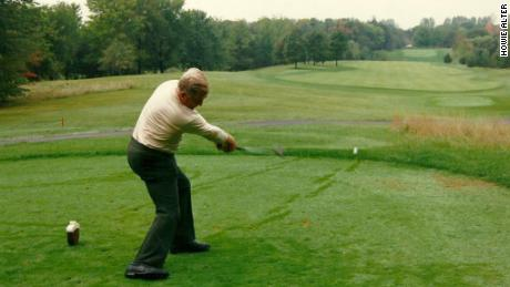 Norman at Oakdale Golf Club in 1977.