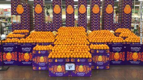 Sumo mandarins on display at a Sprouts Farmers Market store.