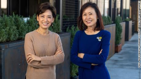 Reps. Young Kim, left, and Michelle Steel both unseated one-term Democrats in November.