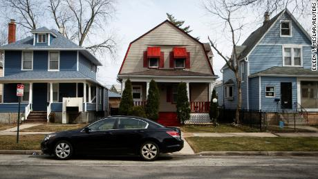 A view shows houses in the 5th Ward in Evanston, Illinois, last week.