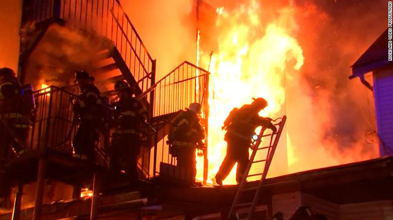One firefighter and some residents are unaccounted for in fire at New York senior center