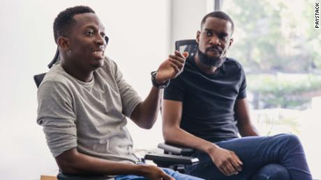 Shola Akinlade (left) is the co-founder and CEO of Paystack.