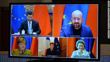 EU and Chinese leaders meet via video conference to approve the investment pact in 2020.