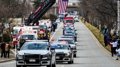 People line the streets of Boulder to honor slain police Officer Eric Talley