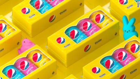 Pepsi is using Peeps-like packaging.