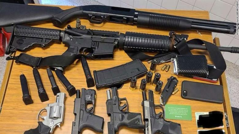 An Instacart shopper saw an AR-15 in an Atlanta supermarket bathroom. Police arrested a man with 6 guns