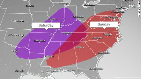 More tornadoes are possible in the South this weekend