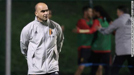 Martinez leads a Belgium training session last November.