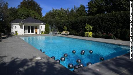 The Quayle family had the pool installed when they lived at the vice president's residence.