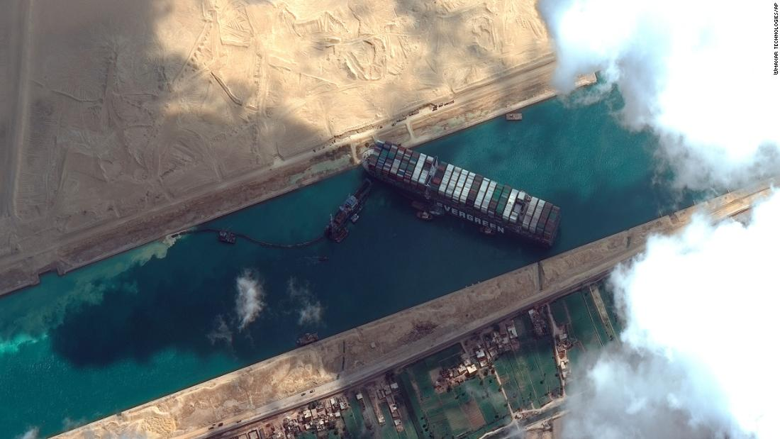 Suez salvage operators consider removing cargo to lighten distressed vessel