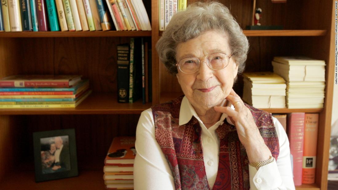 """Children's book author <a href=""""https://www.cnn.com/2021/03/26/us/beverly-cleary-dies-childrens-author/index.html"""" target=""""_blank"""">Beverly Cleary</a> died March 25 at the age of 104, her publishing company announced. Cleary's books have sold more than 85 million copies and were translated into 29 different languages."""