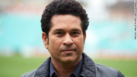 Indian cricket legend Sachin Teldulkar at the Oval cricket ground in London on May 6, 2017.