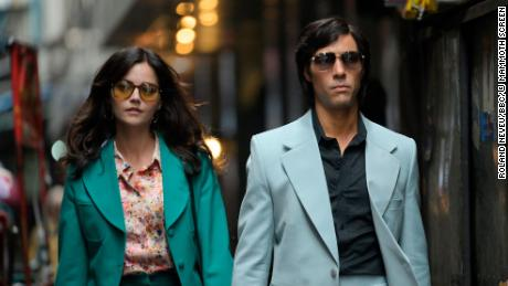 "(From left) Jenna Coleman as Monique/Marie-Andrée Leclerc and Tahar Rahim as Charles Sobhraj star in ""The Serpent."""