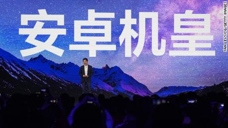 Lei Jun, founder and CEO of Xiaomi, attends a product launch event on March 29, 2021 in Beijing.