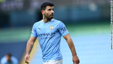 Aguero's appearances this season have been limited due to illness and injury.