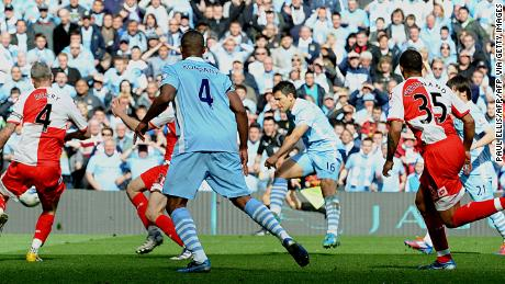 The moment Sergio Aguero won Manchester City the title with his goal against QPR in 2012.