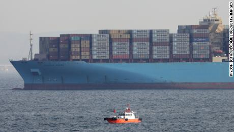 The Maersk Essen container ship.