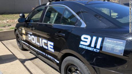The decal is seen on this police vehicle.